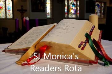 St Monica's Readers Rota August - September 2021